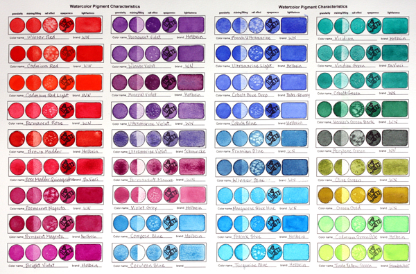 holbein color chart watercolor pdf file